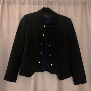 ZARA Peplum Jacket/Blazer with Gold buttons - M